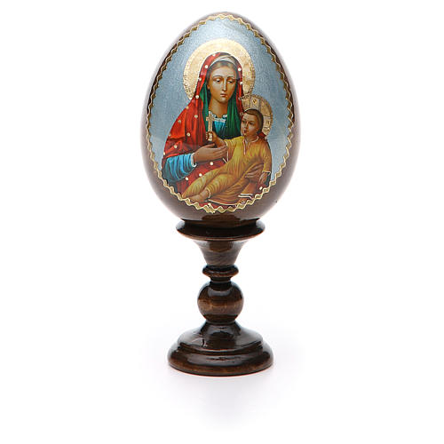 Russian Egg Mother of God Kozelshanskaya découpage 13cm 5