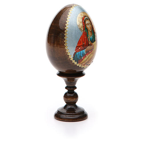 Russian Egg Mother of God Kozelshanskaya découpage 13cm 8