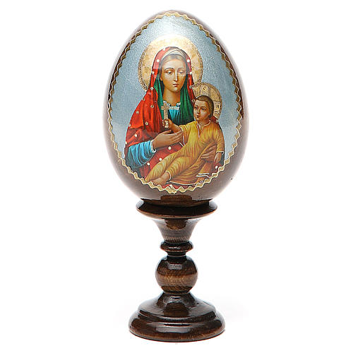 Russian Egg Mother of God Kozelshanskaya découpage 13cm 1