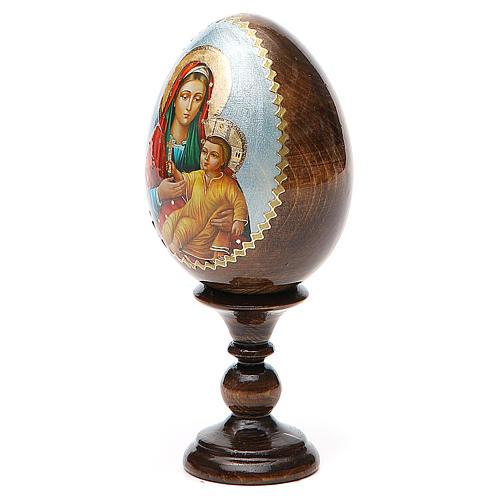 Russian Egg Mother of God Kozelshanskaya découpage 13cm 2