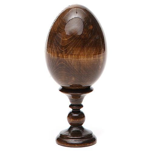 Russian Egg Mother of God Kozelshanskaya découpage 13cm 3