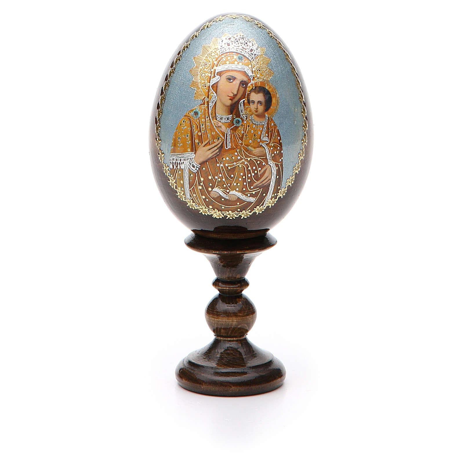 Russian Egg Premonitory Madonna découpage 13cm 4