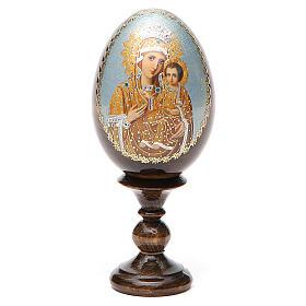 Russian Egg Premonitory Madonna découpage 13cm s9