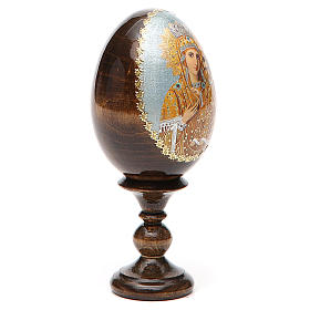Russian Egg Premonitory Madonna découpage 13cm s12