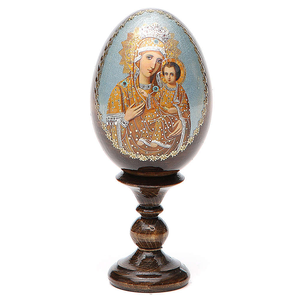 Russian Egg Premonitory Madonna découpage 13cm 4