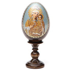 Russian Egg Premonitory Madonna découpage 13cm s9