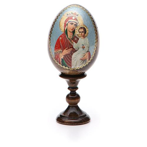 Huevo icono  découpage Rusa Liberadora de altura total 13 cm 5