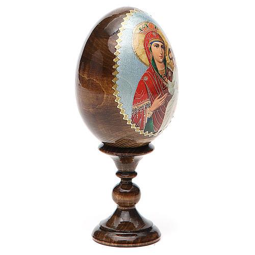 Oeuf peint Russie Libératrice h tot. 13 cm 4