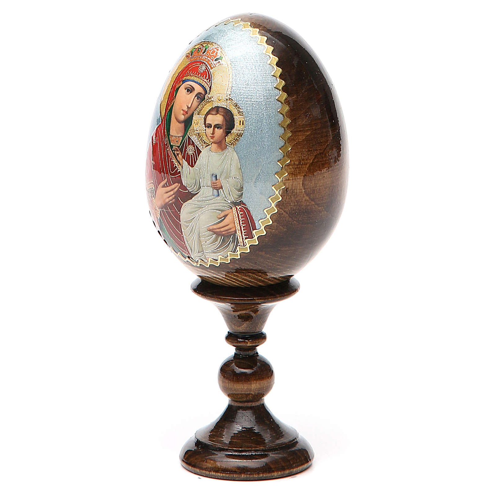 Russian Egg Liberating Virgin découpage 13cm 4