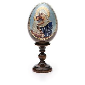 Jajko ikona decoupage Rosja Opiekunka poległych wys. całk. 13 cm s5