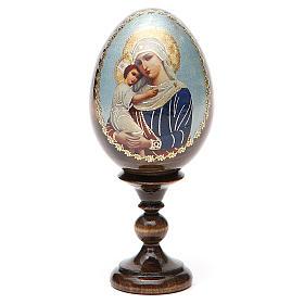 Jajko ikona decoupage Rosja Opiekunka poległych wys. całk. 13 cm s9