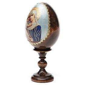 Jajko ikona decoupage Rosja Opiekunka poległych wys. całk. 13 cm s10