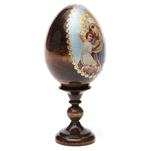 Jajko ikona decoupage Rosja Opiekunka poległych wys. całk. 13 cm 12