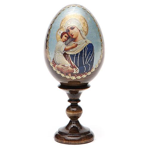 Jajko ikona decoupage Rosja Opiekunka poległych wys. całk. 13 cm 1