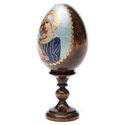 Jajko ikona decoupage Rosja Opiekunka poległych wys. całk. 13 cm 2