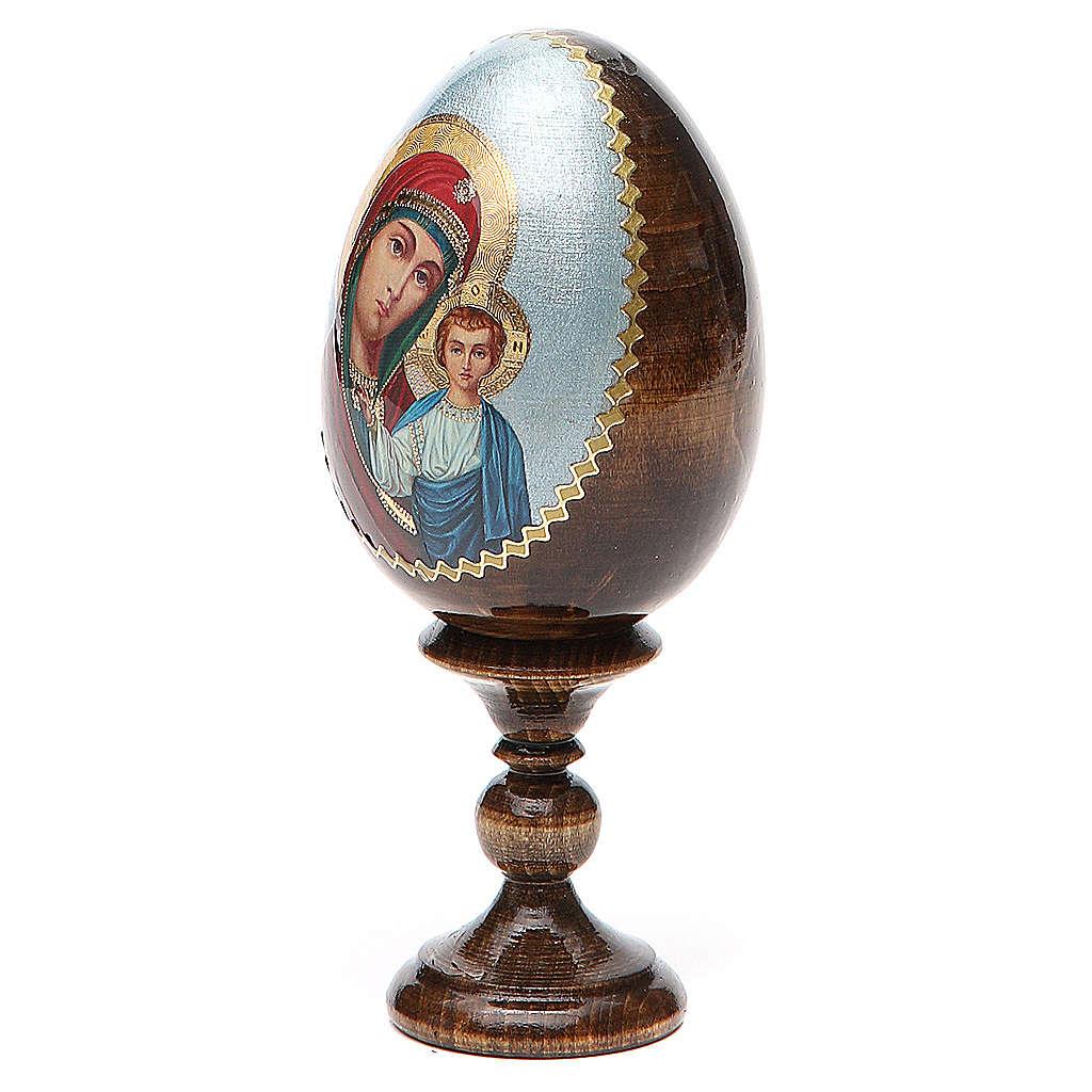 Oeuf peint icône Russie Kazanskaya h tot. 13 cm 4