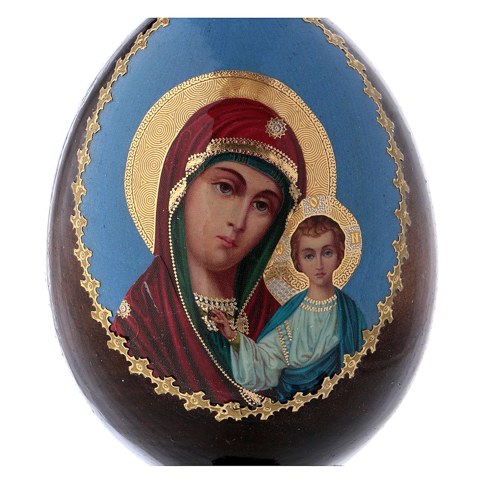 Russian Egg Kazanskaya découpage 13cm 4