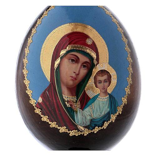 Russian Egg Kazanskaya découpage 13cm 2