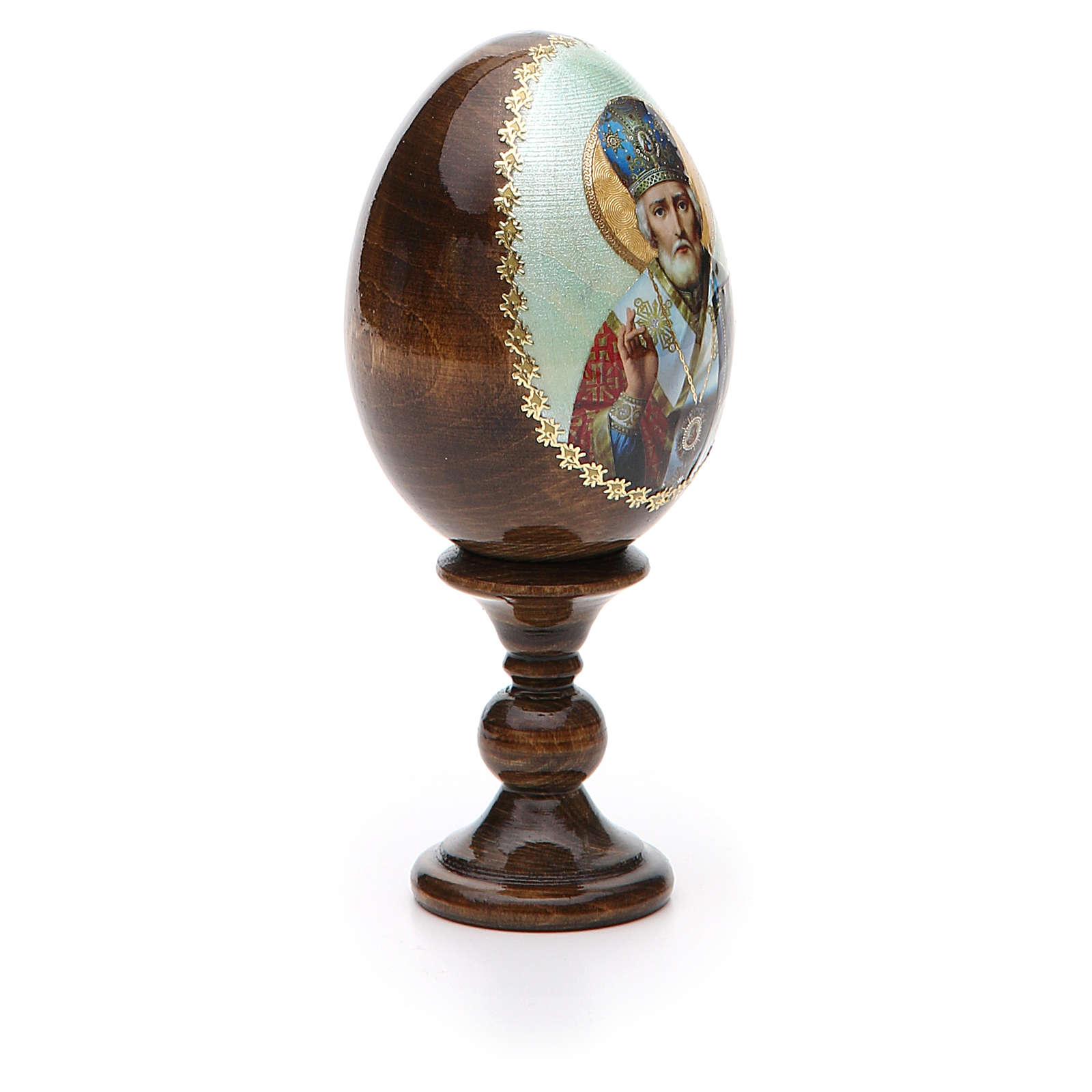 Russian Egg of St. Nicholas découpage 13cm 4