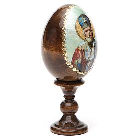Russian Egg of St. Nicholas découpage 13cm s12