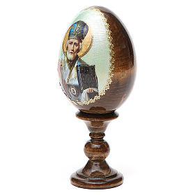 Russian Egg of St. Nicholas découpage 13cm s2