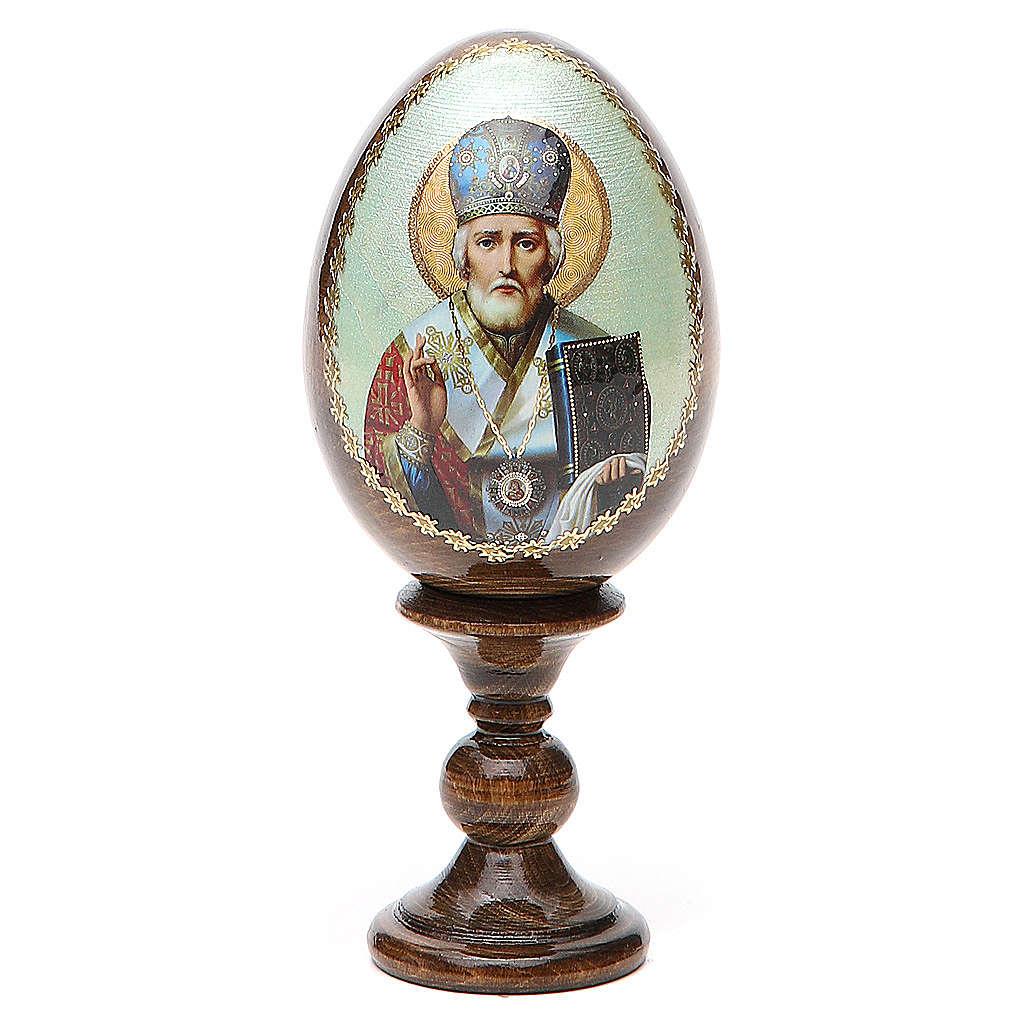 Uovo Russia San Nicola legno découpage h tot. 13 cm 4