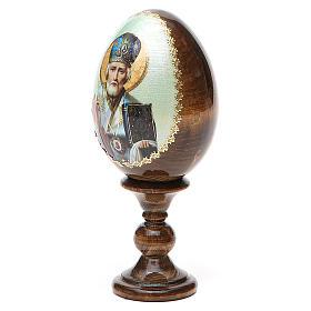 Uovo Russia San Nicola legno découpage h tot. 13 cm s10