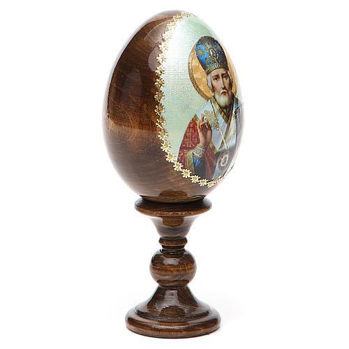 Uovo Russia San Nicola legno découpage h tot. 13 cm 12