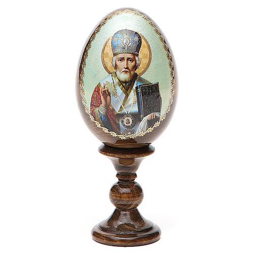 Uovo Russia San Nicola legno découpage h tot. 13 cm 1