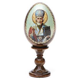 Russian Egg of St. Nicholas découpage 5.12'' s1