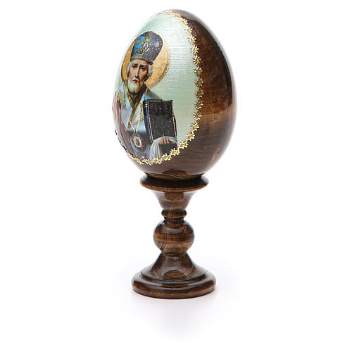 Russian Egg of St. Nicholas découpage 5.12'' 6