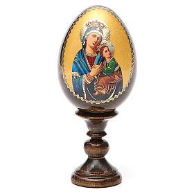 Oeuf peint icône Russie Perpétuel Secours h tot. 13 cm s1