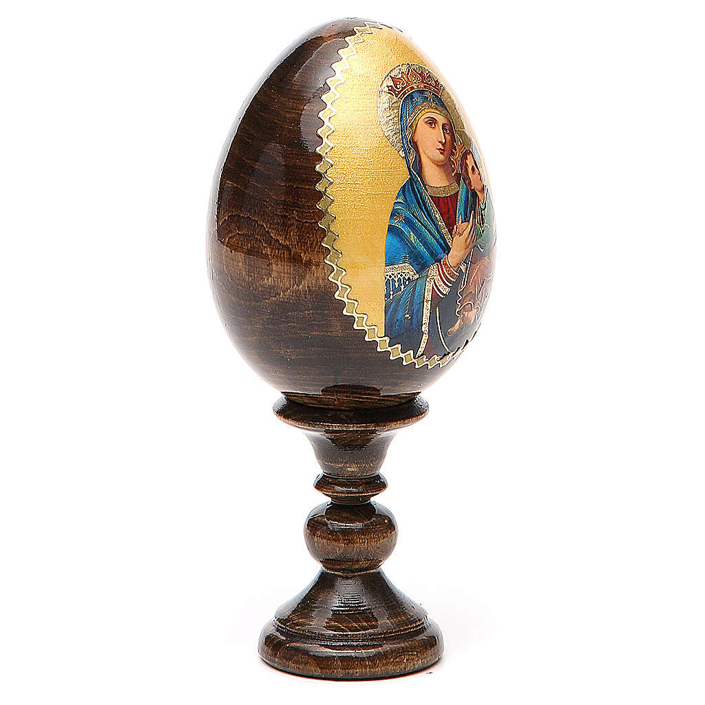 Russian Egg Our Lady of Perpetual Help découpage 13cm 4