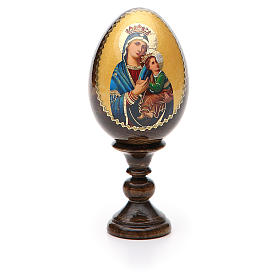 Russian Egg Our Lady of Perpetual Help découpage 13cm s5
