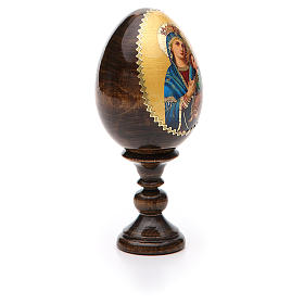 Russian Egg Our Lady of Perpetual Help découpage 13cm s8