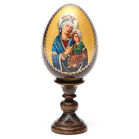 Russian Egg Our Lady of Perpetual Help découpage 13cm s9