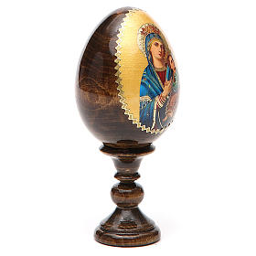 Russian Egg Our Lady of Perpetual Help découpage 13cm s12