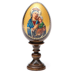 Russian Egg Our Lady of Perpetual Help découpage 13cm s1