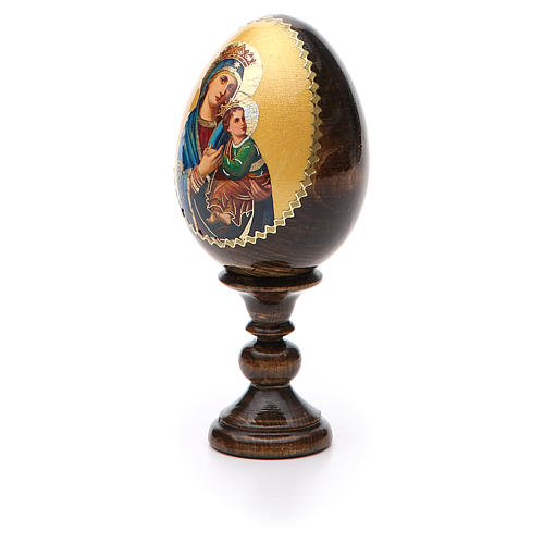 Russian Egg Our Lady of Perpetual Help découpage 13cm 6