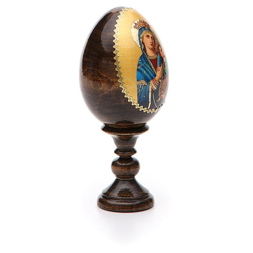 Russian Egg Our Lady of Perpetual Help découpage 13cm 8