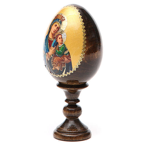 Russian Egg Our Lady of Perpetual Help découpage 13cm 10