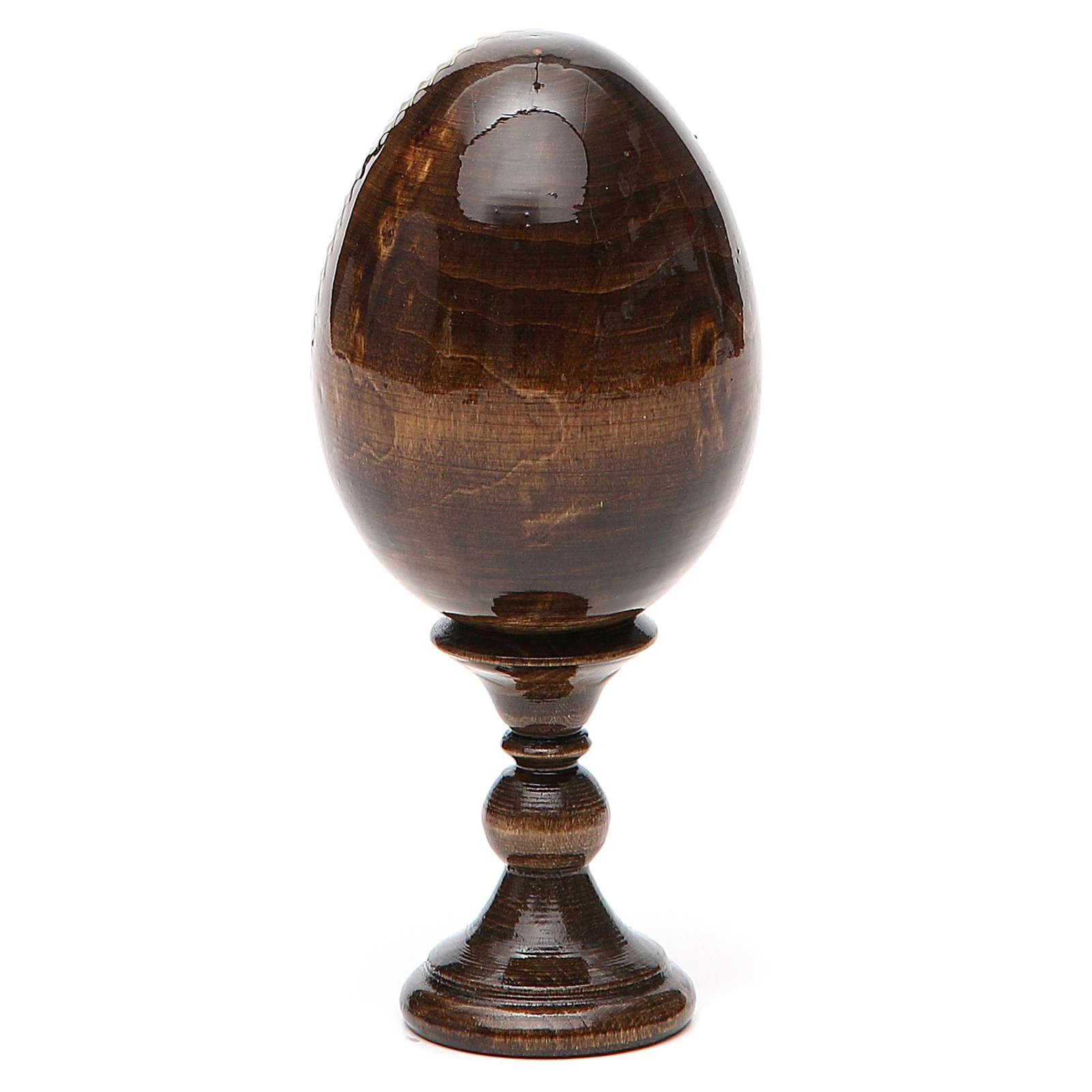 Russian Egg Our Lady of Lourdes découpage 13cm 4