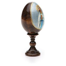 Russian Egg Our Lady of Lourdes découpage 13cm s8