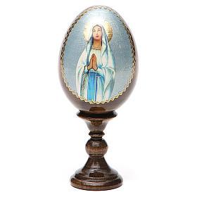 Russian Egg Our Lady of Lourdes découpage 13cm s9