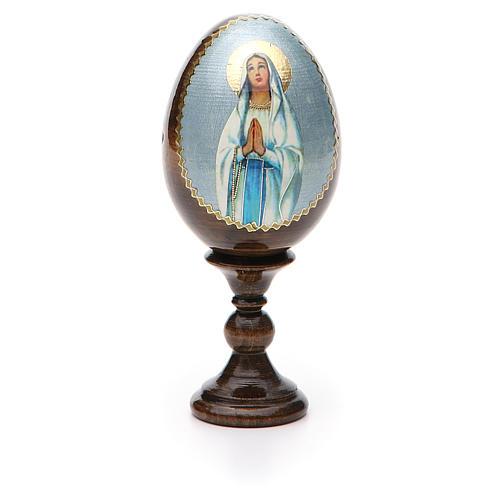 Russian Egg Our Lady of Lourdes découpage 13cm 5