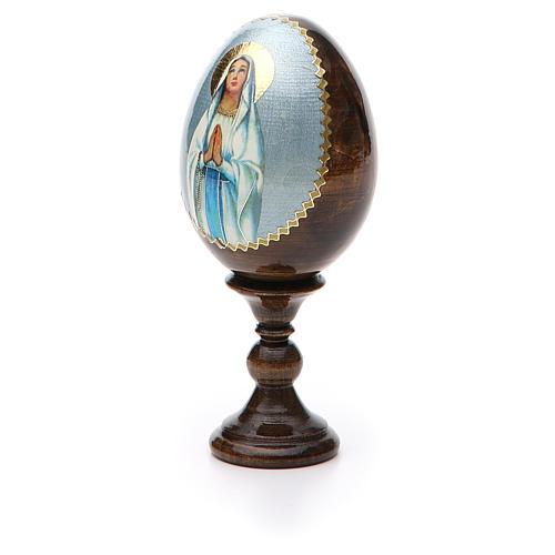 Russian Egg Our Lady of Lourdes découpage 13cm 6