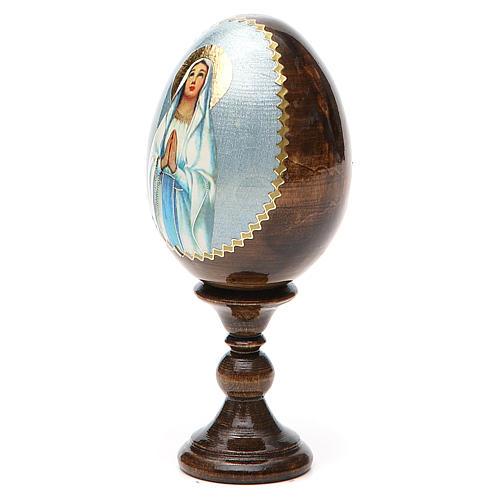 Russian Egg Our Lady of Lourdes découpage 13cm 10