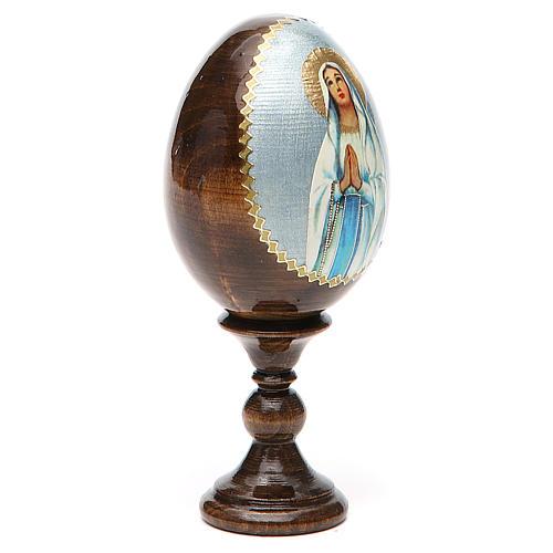 Russian Egg Our Lady of Lourdes découpage 13cm 12