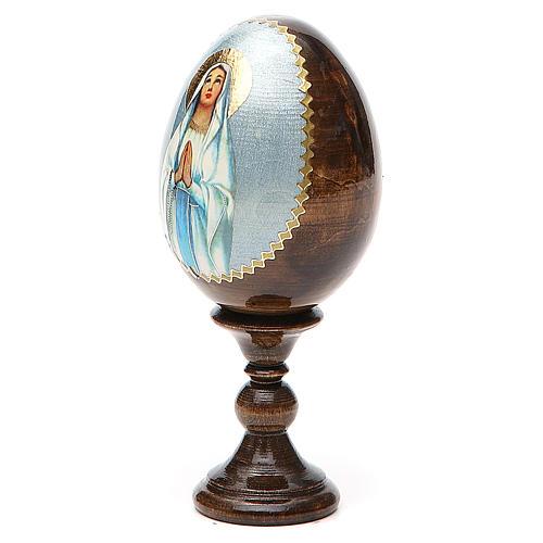 Russian Egg Our Lady of Lourdes découpage 13cm 2