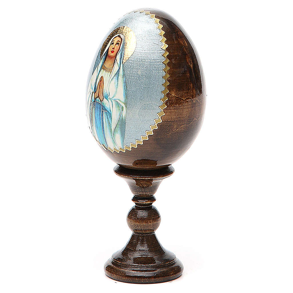 Uovo Russia Lourdes découpage h tot. 13 cm 4